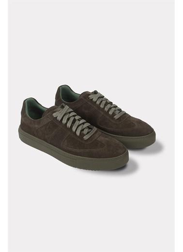 Krähe Corb Olive Süet Minimal Sneaker Yeşil